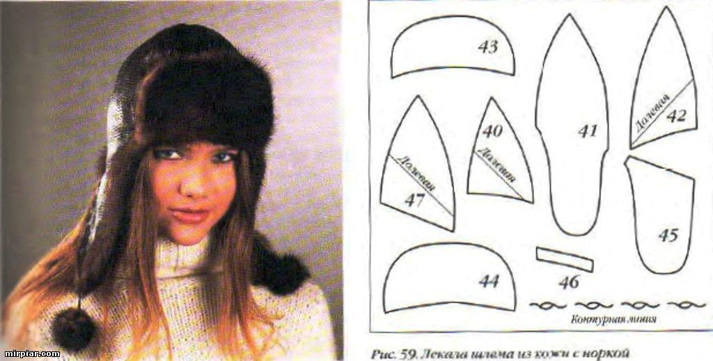Сшить шапку из меха