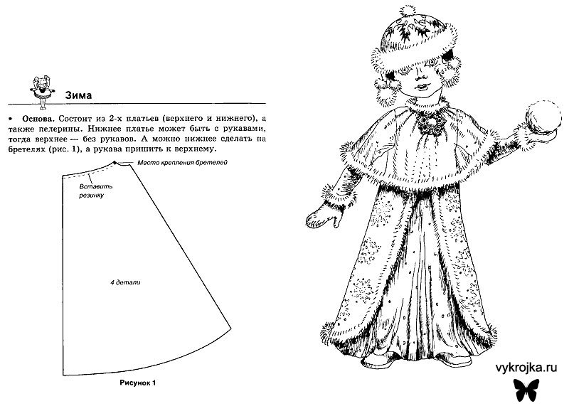 Снегурочка кукла своими руками выкройки