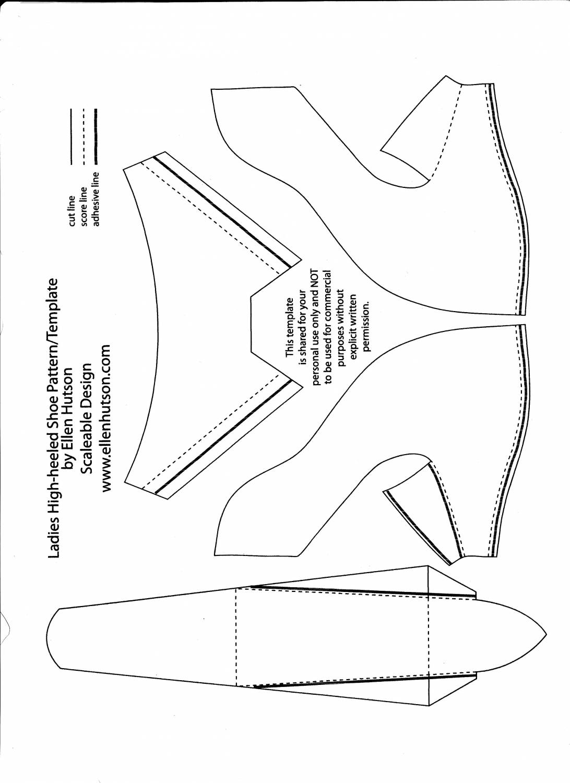 Высоцкого, шаблоны туфельки для детей