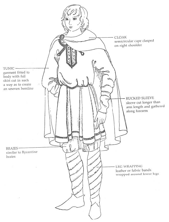 Римские рубаха и накидка-выкройки.
